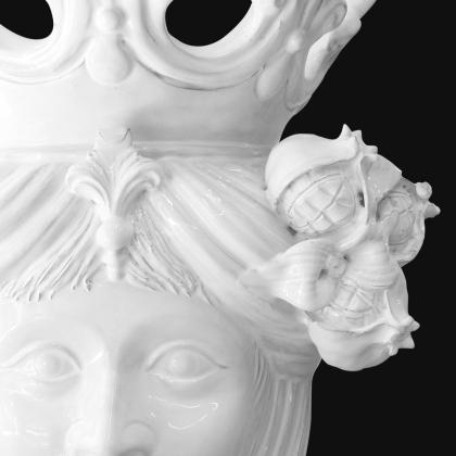 Testa h 40 white line melograni femmina - Teste di moro moderne Sofia Ceramiche