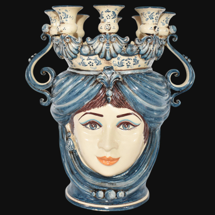 Candlestick head h 40 monochrome of blue female