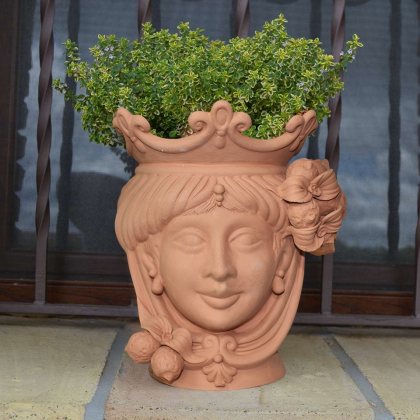Sicilian Ceramic Moor S Head With Lemons From Caltagirone