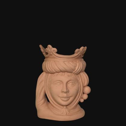 Testa h 20 grezza modellata in terracotta femmina