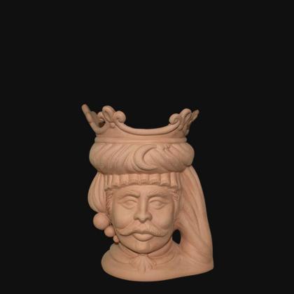 Ceramic head h 20 terracotta female