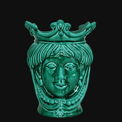 Testa h 25 con perline verde integrale femmina