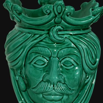 Testa h 25 liscia verde integrale maschio