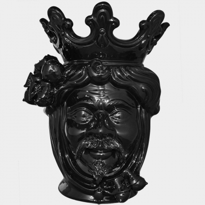 "Sicilian ceramic ""Moor's head"" from Caltagirone."