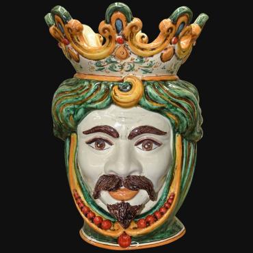 Moro siciliano in ceramica di Caltagirone decorato a mano. la storia della testa di moro siciliana