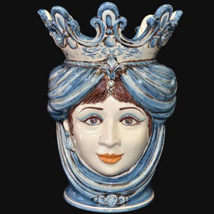 "Sicilian ceramic ""Moor's head"" with pomegranates from Caltagirone."