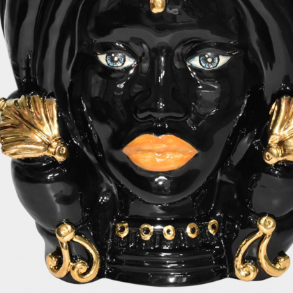 Testa h 40 turbante black and gold femmina