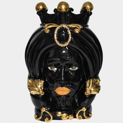 Testa h 40 turbante black and gold maschio
