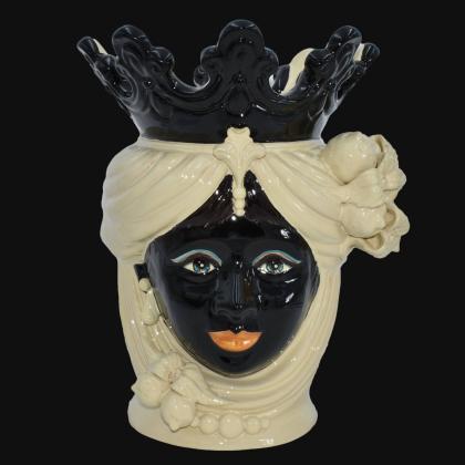 copy of Ceramic Head with lemons h 40 Ivory Line female - Sofia Ceramic