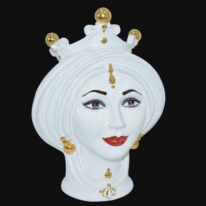 Testa h 30 White and Gold donna - Teste di moro moderne Sofia Ceramiche