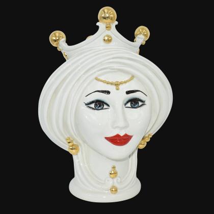 Testa h 30 Madreperla e oro donna - Teste di moro moderne Sofia Ceramiche