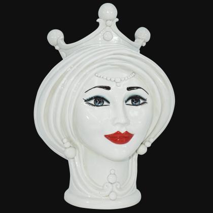 Testa h 30 Nacre donna - Modern Moorish heads Sofia Ceramiche