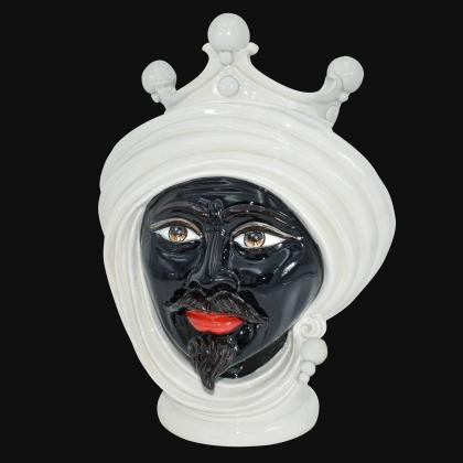 Testa h 30 Nacre uomo - Modern Moorish heads Sofia Ceramiche
