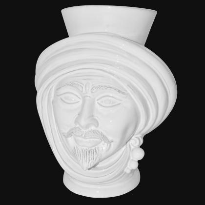 Testa h 30 White Line maschio - Modern Moorish heads Sofia Ceramiche