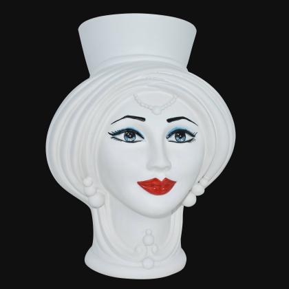 Testa h 30 Bianco Opaco Donna - Teste di moro moderne Sofia Ceramiche