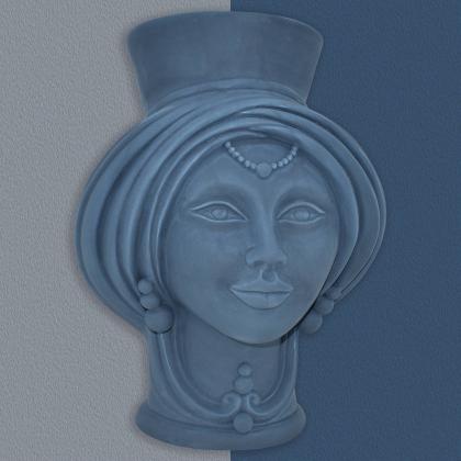 Testa h 30 Blu Opaco Donna - Teste di moro moderne Sofia Ceramiche