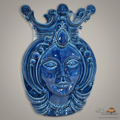Testa h 38 blu integrale donna - Teste di moro moderne Sofia Ceramiche