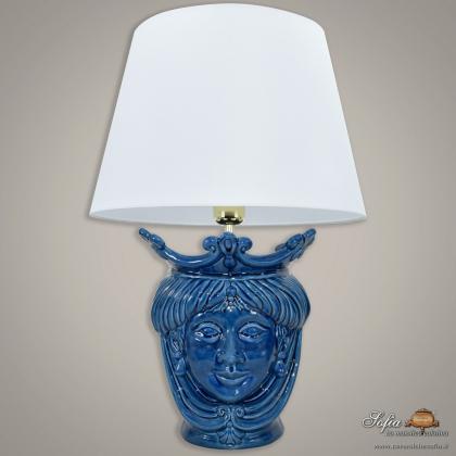 Lume a Testa h 55 cm liscia blu integrale donna