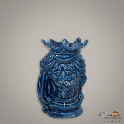 "copy of Sicilian ceramic ""Moor's head"" from Caltagirone."