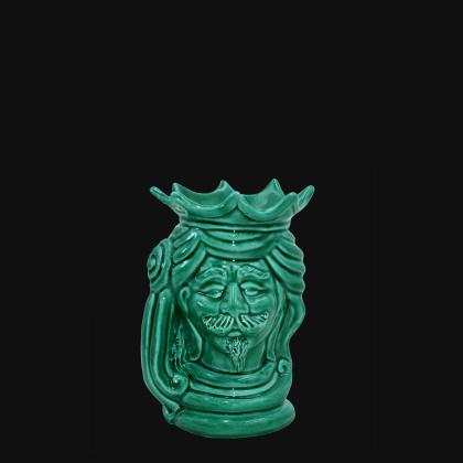 "Modern Sicilian ceramic ""Moor's head"" from Caltagirone."