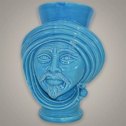 Testa h 30 Turchese Integrale uomo - Teste di moro moderne Sofia Ceramiche