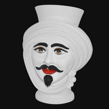 Testa h 30 Bianco Opaco Uomo - Teste di moro moderne Sofia Ceramiche