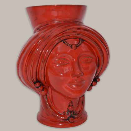 copy of Testa h 30 Integral Red donna - Modern Moorish heads Sofia Ceramiche