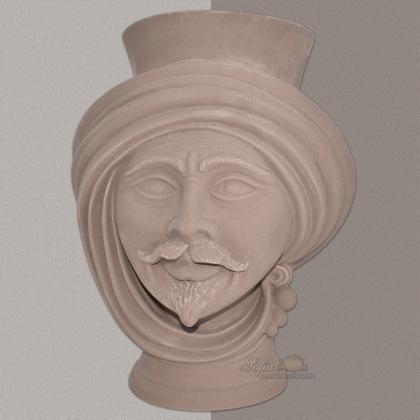 Testa h 30 Tortora Opaco Uomo - Teste di moro moderne Sofia Ceramiche