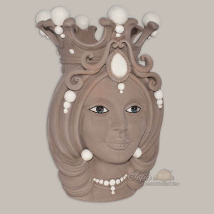 Testa h 38 tortora opaco donna - Teste di moro moderne Sofia Ceramiche
