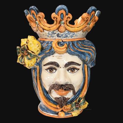 Vendita Teste di Moro in ceramica di Caltagirone - Testa siciliana Sofia da collezione