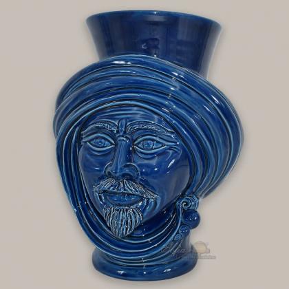 Testa h 30 Blu Integrale uomo corona liscia - Teste di moro moderne Sofia Ceramiche