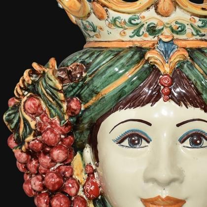 Testa h 40 uva verde e arancio donna