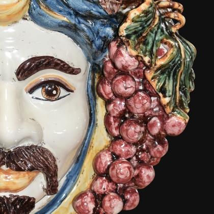 Testa h 40 uva blu e arancio maschio bianco