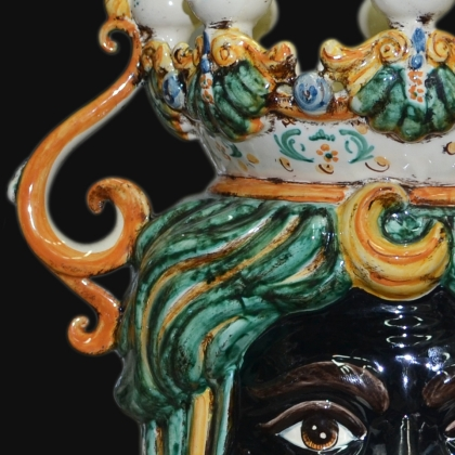 Testa a Candeliere h 40 verde/arancio Maschio Moro