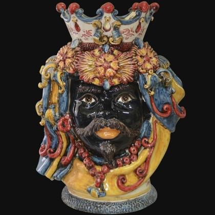 Ceramic Head h 50 blu/orange male