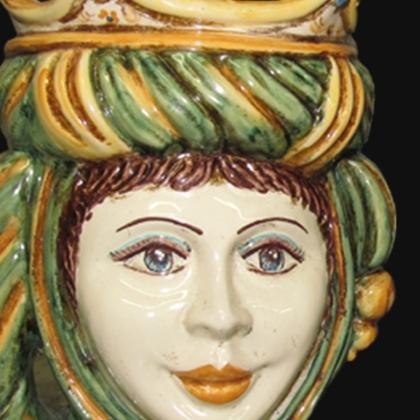 Ceramic Head h 20 green/orange female