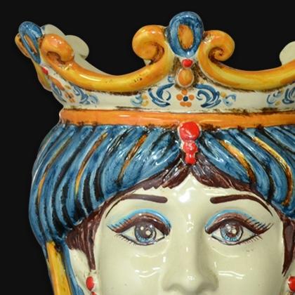 Head h 25 with beads blue/orange female