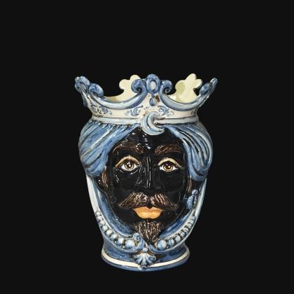 Testa h 25 c/perline mono blu maschio moro