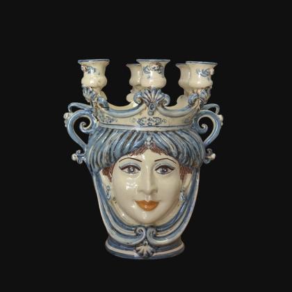 Candlestick head h 25 monochrome of blue female
