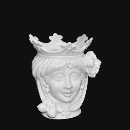 Testa h 25 limoni white line femmina - Teste di moro moderne Sofia Ceramiche