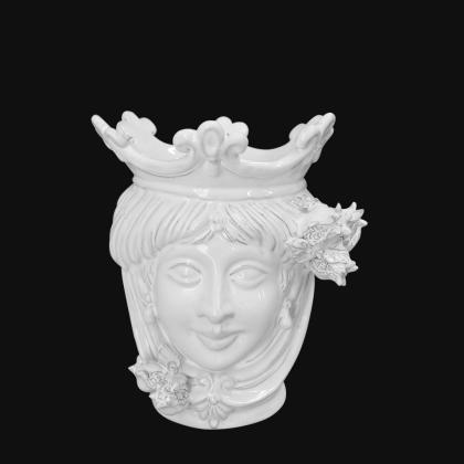Testa h 25 melograni white line femmina - Teste di moro moderne Sofia Ceramiche